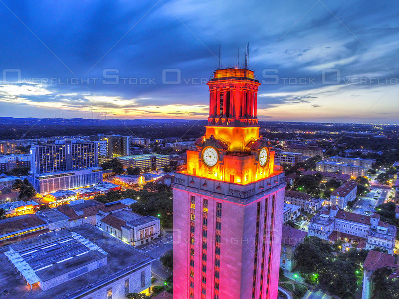 University Texas Longhorns Tower Sunset Austin