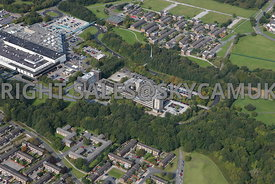 Skelmersdale aerial photograph of the offices Concourse shopping centre