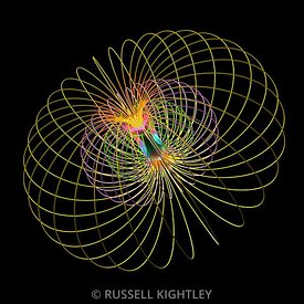 Bar magnet showing magnetic field lines in 3D #1