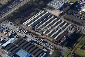 Skelmersdale aerial view of Dresser factory on Gillibrand road