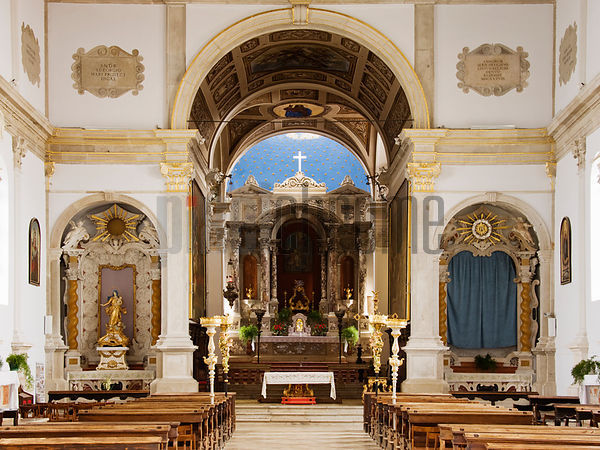 Interior of Church of Sveti Jurij (St George's Church), Piran, Slovenia