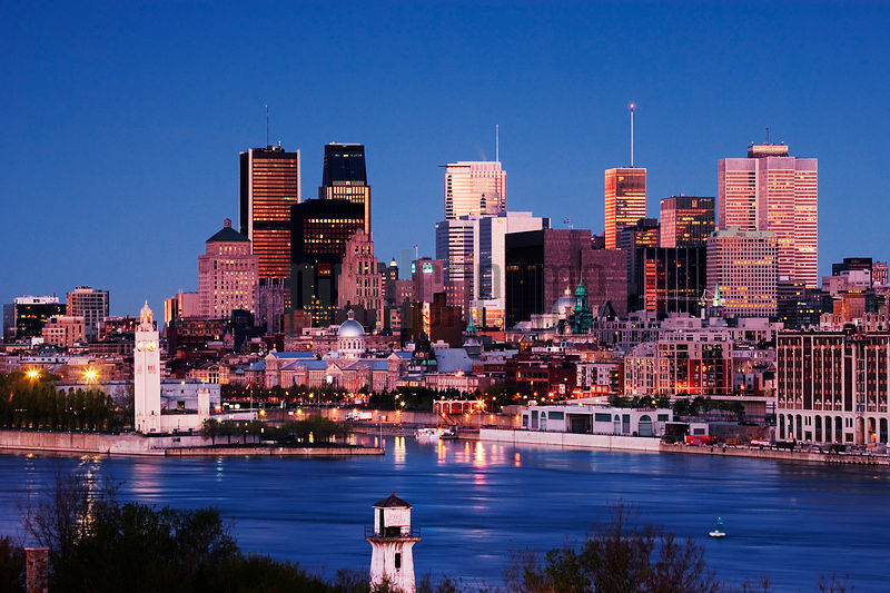 Montreal Skyline at Dawn, Quebec, Canada