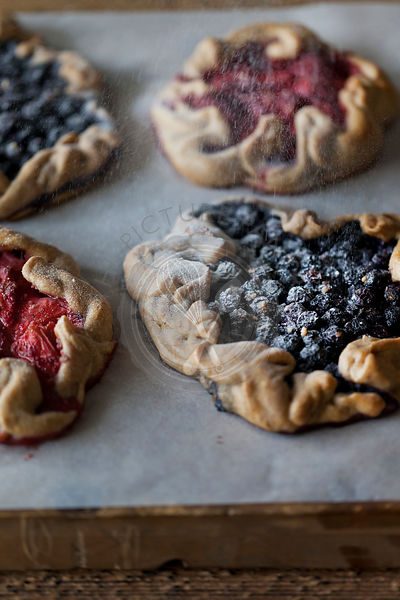 Strawberry & blueberry galettes