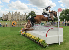 Jeanette Brakewell and LETS DANCE - cross country phase,  Land Rover Burghley Horse Trials, 7th September 2013.