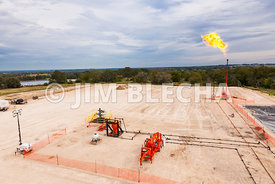 Flaring at a Flow Back Test