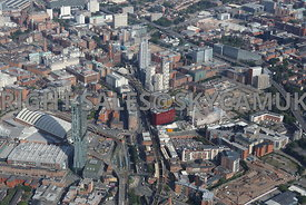First Street Development area and Oxford Road Railway Station and Manchester Student Village South Manchester Gateway