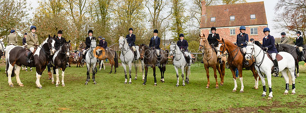 at the meet. The Cottesmore Hunt at Braunston