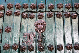 Detail of main entrance of Casa de la Moneda / Royal Mint, Potosí, Bolivia