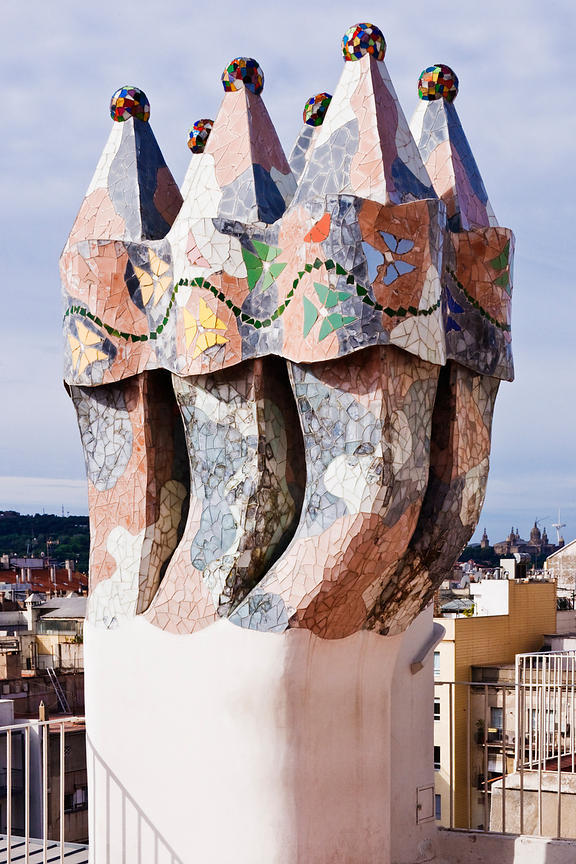 Chimmney on Gaudi La Pedrera House
