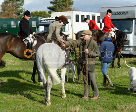 David Bland, Eliza Culloty and Sir David Samworth. Quorn Hunt Opening Meet 2018
