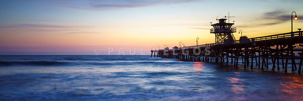 San Clemente Pier at Sunset Panorama Photography