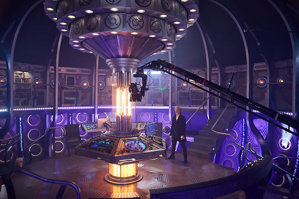 Behind the scenes unit photography on the set of Doctor Who