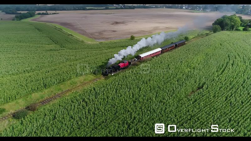 Angelner Steam Railway at Scheggerott in the state of Schleswig-Holstein, Germany