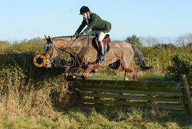Sophie Reed jumping a fence in line 2