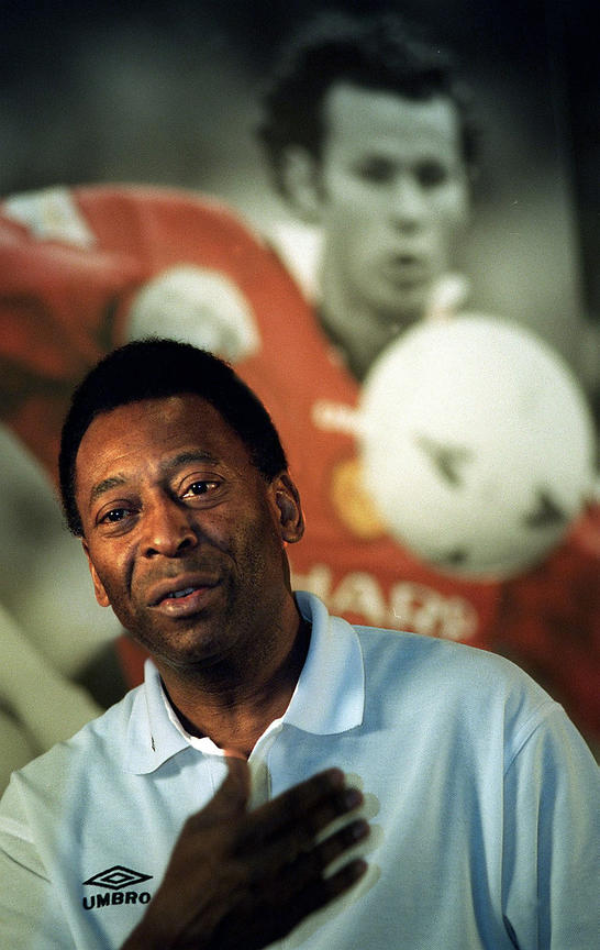 Pele at Old Trafford