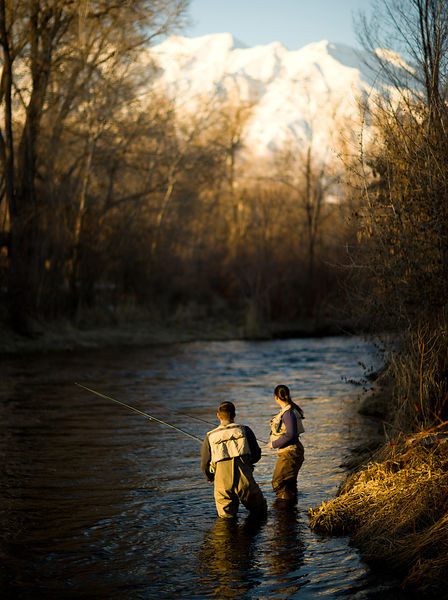 Fly-fishing on the  Provo River