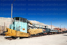 "Disused Jordan spreader called ""El Huascar"" on display near Chuquicamata mine, Region II, Chile"