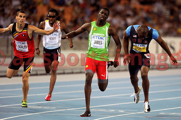 Grenada Kirani James and USA LaShawn Merritt in action