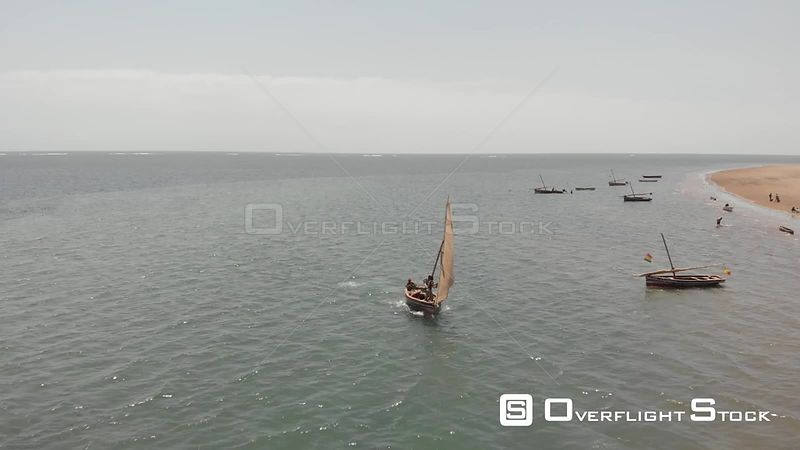 Sailboat at Che Shale Indian Ocean Beach Kenya