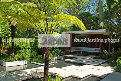 Aquatic garden, Asiatic garden, Contemporary furniture, Contemporary garden, Exotic garden, Garden construction, Garden furni...