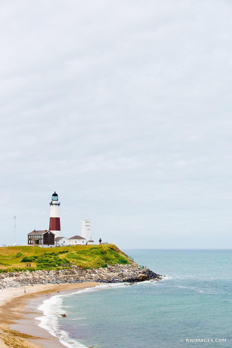 MONTAUK POINT LIGHTHOUSE LONG ISLAND NEW YORK COLOR VERTICAL