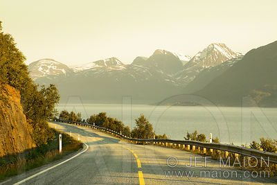 Coast road and mountains