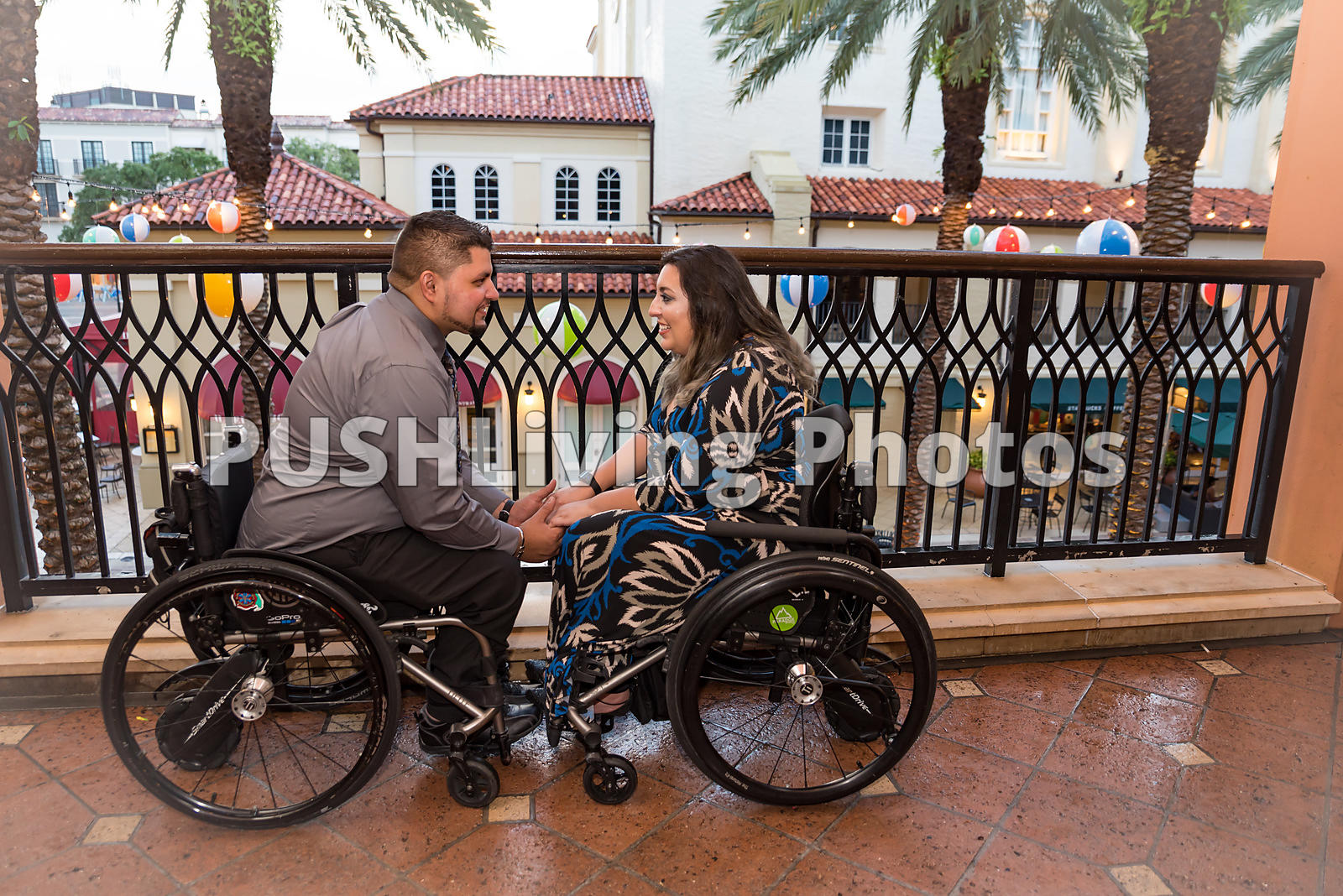 Young couple on a romantic date in Florida, USA