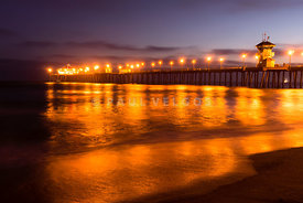 Huntington Beach Pier at Night