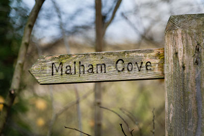 Sign to Malham Cove