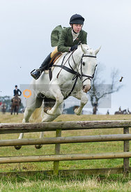 Charlotte Bell jumping a hunt jump - The Cottesmore Hunt at Burrough House 18/12
