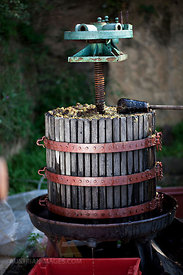 Croatia, Baranja, Wine press in vineyard