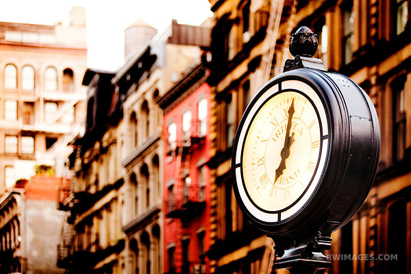 TRIBECA STREET CLOCK MANHATTAN NEW YORK COLOR