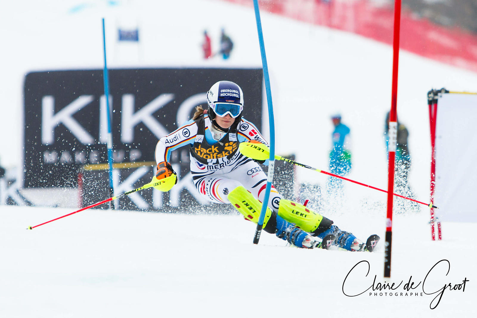 Lena Duerr in the Slalom during the 2015 FIS World Cup Final