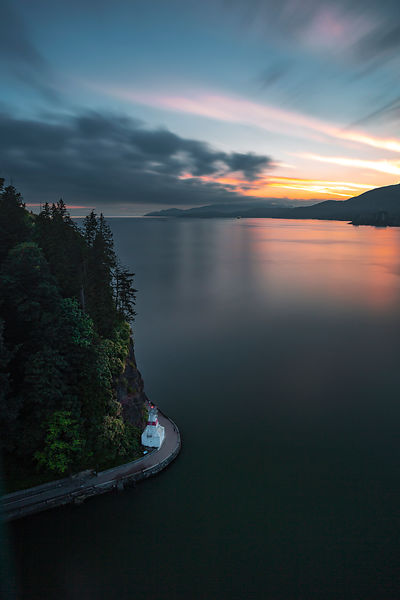 Stanley Park Sea Wall after Sunset
