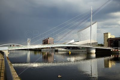 Dramatic Skies over the The Media City Footbridge
