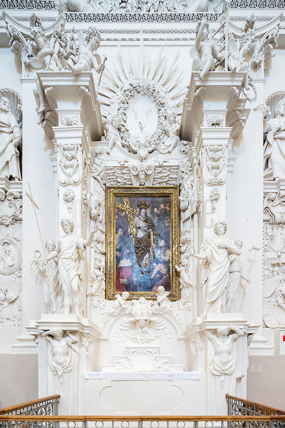 Altarpiece at the Baroque Church of St Peter & St Paul