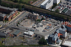 Chester aerial view of Saddlery Way and Kitchen Street