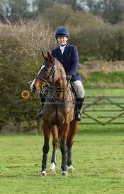 Emilie Chandler At the Meet. The Belvoir Hunt at Sheepwash 29/12