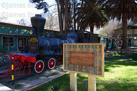 """Copiapó"", the train that performed the first railway journey between Copiapó and Caldera on 25 December 1851 , Copiapó , Reg..."