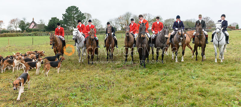 Visiting masters at the meet. The Holderness Hunt visit The Essex and Suffolk