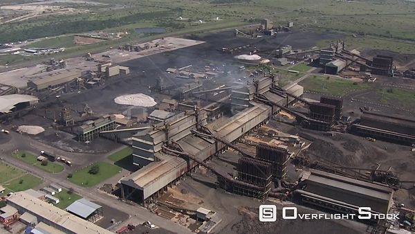 Aerial shot of an industrial area Johannesburg Gauteng South Africa
