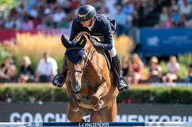 29/07/18, Berlin, Germany, Sport, Equestrian sport Global Jumping Berlin - Championat der DKB von Berlin -   Image shows HASS...