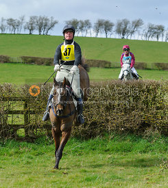 Patrick Millington jumping the last hedge - Harborough Ride 2014