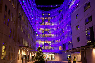 The John Peel Wing of Broadcasting House at Christmas 2012