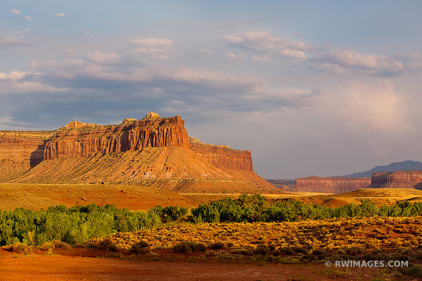 SUNSET THE NEEDLES DISTRICT CANYONLANDS NATIONAL PARK UTAH COLOR HORIZONTAL