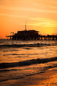 Santa Monica Pier California Sunset
