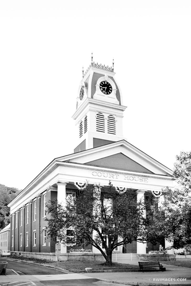 COURT HOUSE BUILDING MONTPELIER VERMONT BLACK AND WHITE