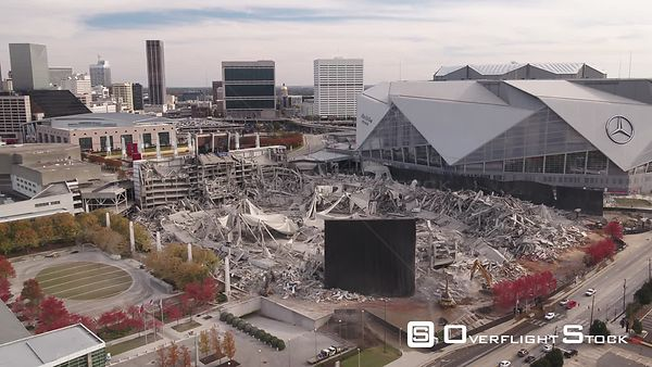 Georgia Dome Implosion Aftermath Atlanta