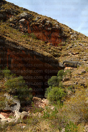 View of entrance of Umajalanta caves, Torotoro National Park, Bolivia