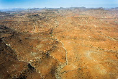Aerial view of Kaokoland in the far North-West of Namibia.
